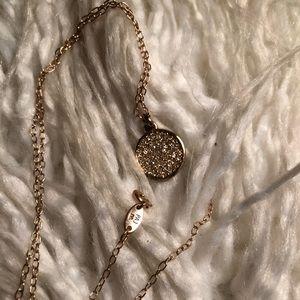 Rose Gold Michael Kors Diamond circle necklace